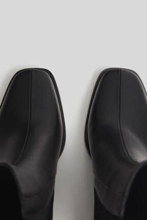 Bershka Kadın Siyah Topuklu Bot 2