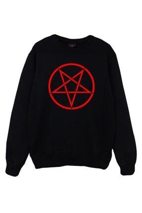 fame-stoned Unisex Kırmızı Baskılı Sweatshirt 1