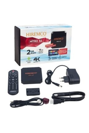 Hiremco Nitro S2 2gb Ddr3 Ram 16gb Hafıza Netflix 9.0 Android Box 1
