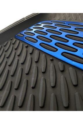 SAFİR Opel Astra H Uyumlu Universal Derin Havuzlu Paspas Krom Mavi 1