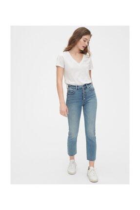 GAP Kadın Mavi High Rise Cigarette Jean Pantolon 2