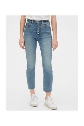 GAP Kadın Mavi High Rise Cigarette Jean Pantolon 4