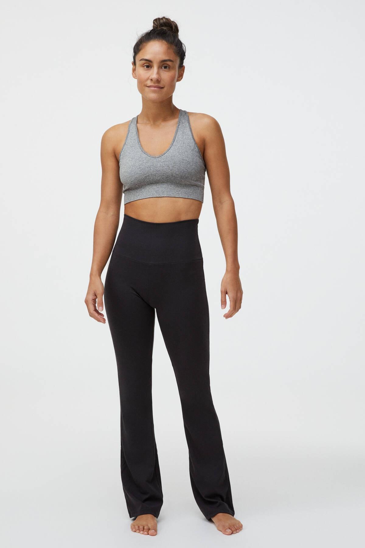 Oysho Kadın Siyah Flare Comfort Pantolon 1