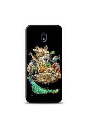 Kılıf Madeni Xiaomi Redmi 8a Hayvanlar Siyah Koleksiyon Telefon Kılıfı Y-syhklf149 0