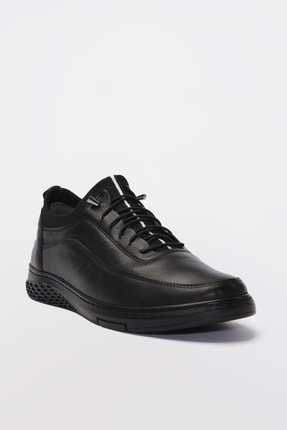 Yaya by Hotiç Hakiki Deri Siyah Erkek Sneaker 02AYY189610A100 2