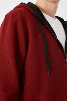 Koton Erkek Bordo Sweatshirt 1KAM71089LK 4