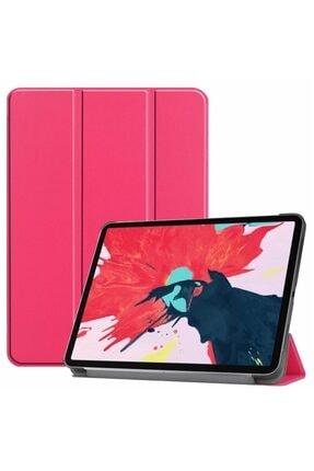 MOBAX Ipad Pro 11 2.nesil 2020 Kılıf Pu Deri Smart Case A2228 A2068 A2230 A2231 Koyu Pembe 0
