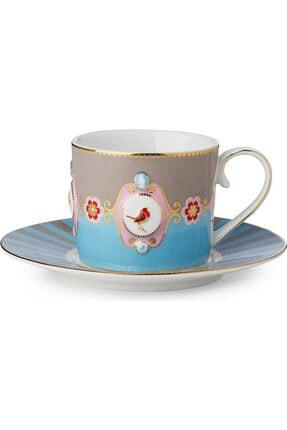 Pip Studio Love Bird Mavi/haki Madalyon Desenli Çay Fincanı 200 Ml 0