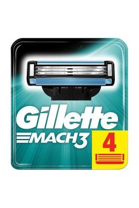 Gillette Mach3 Yedek Tıraş Bıçağı 4'lü 3014260243531 0