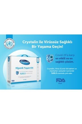 Crystalin Eco Antiseptik Dezenfektan Hijyenik Yaşam Kiti - El Cilt Ve Ortam Dezenfektanı 1