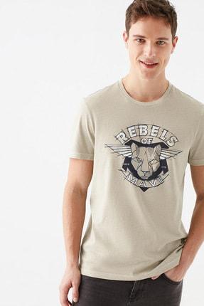 Mavi Rebels Of Baskılı Bej Tişört 1