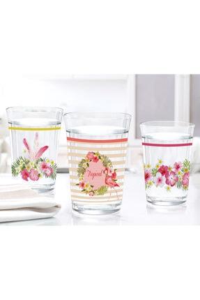 Madame Coco Flamingo  Su Bardağı Seti 200 ml 3Lü 1