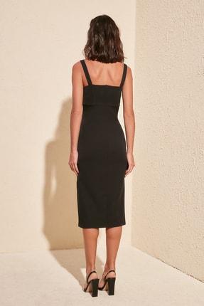 TRENDYOLMİLLA Siyah Yırtmaçlı Elbise TWOSS19BB0216 3