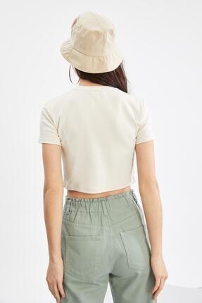 Defacto Coool Basic Slim Fit Kısa Kollu Crop Tişört 3