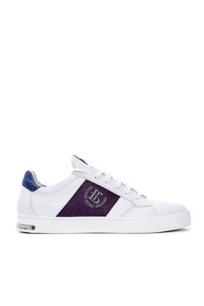 Roberto Botticelli Erkek Beyaz Deri Sneaker 0