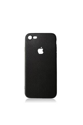 Iphone 7 Uyumlu Kılıf Siyah Suni Deri