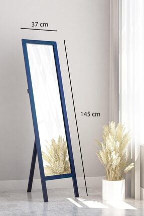 bluecape mAVİ Floransa Ayaklı Antre Hol Koridor Salon Banyo Ofis Çocuk Yatak Odası  Boy Aynası 38x145cm 2