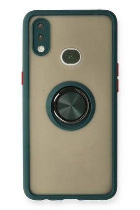 SENKA Samsung Galaxy A10s Kılıf Yüzüklü Standlı Silikon Kapak 0