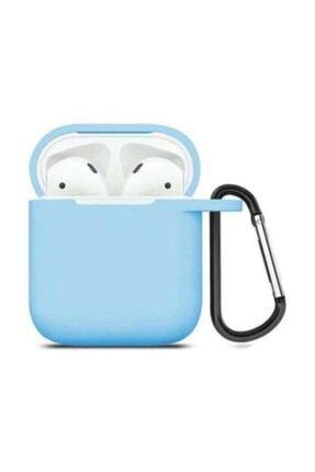 SUPPO Mavi Apple Airpods Uyumlu Silikon Kılıf 0