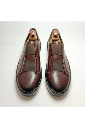 Ayakkabium Eng0102 Içi Dışı Hakiki Deri Yüksek Taban Kahverengi Erkek Sneaker Günlük Ayakkabı 1