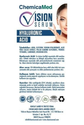 ChemicaMed Vision Serum, Cilt Bakım Serumu 1