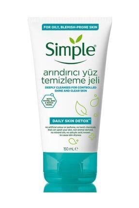 Simple Daily Skin Detox Yağlı/Karma Ciltler İçin Arındırıcı Yüz Temizleme Jeli 150 ml 0