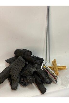 CEREN MANGAL Tozsuz Doğal Meşe Mangal Kömürü 10 Kg Ve Köz Maşası,hediyeli (çıra,eldiven,ıslak Mendil) 1