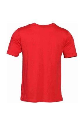 HUMMEL Erkek Kırmızı Welo Kısa Kollu Tişört 4