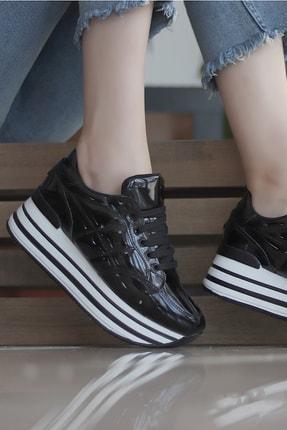 TRENDBU AYAKKABI Siyah Kadın Sneaker SPOR7072 0