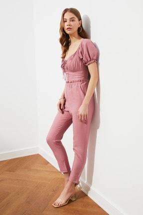 TRENDYOLMİLLA Gül Kurusu Jogger Bel Detaylı Pantolon TWOSS21PL0359 1