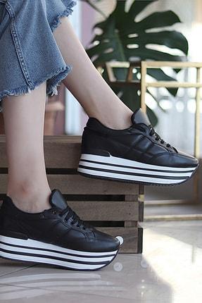 TRENDBU AYAKKABI Siyah Kadın Sneaker SPOR1616 0