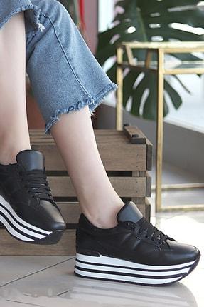 TRENDBU AYAKKABI Siyah Kadın Sneaker SPOR1616 1