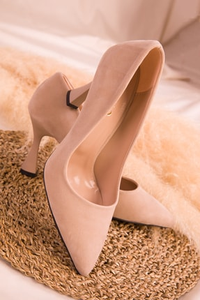 Soho Exclusive Ten Süet Kadın Klasik Topuklu Ayakkabı 16002 2