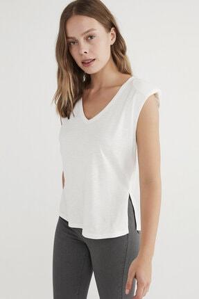 Penti Kadın  Beyaz Shoulder Padded Günlük Tişört 1