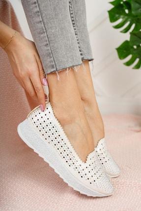Moda Değirmeni Kadın Gri Taşlı Günlük Ayakkabı Md1016-111-0001 0