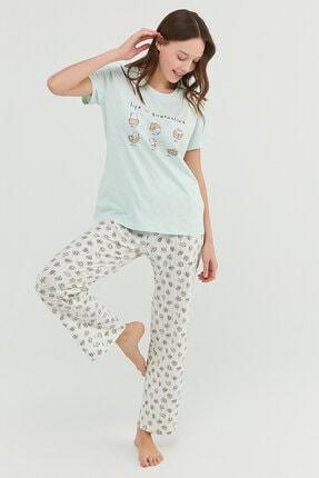 Penti Mint Yeşili Cat Life Pantolon Takımı 0