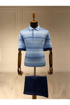 Polo Yaka Mavi T-shirt 1301MS