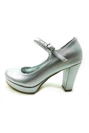 Kadın Gri Lame Topuklu Ayakkabı 61 1738 LAME-PRD