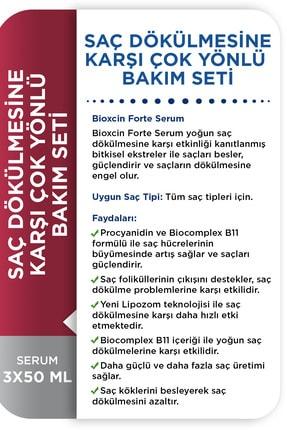 Bioxcin Forte Serum 3'lü Bakım Seti Saç Dökülmesine Karşı Çok Yönlü Bakım Seti Serum+şampuan+biotin 4