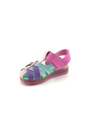 Şirin Bebe Kız Çocuk Sandalet Pembe-yeşil 1