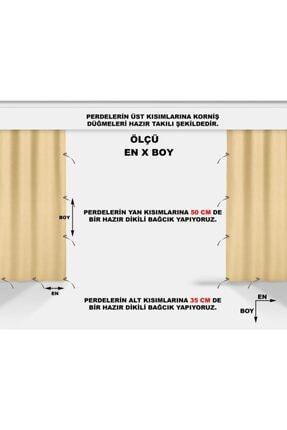 ALTINPAMUK Her Ölçüde Enxboy Seçenekli Bağcıklı Balkon Perdesi Balkon Brandası Kahve Beyaz- 3