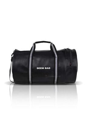 BAVYERA Seem Bag Silindir Spor Fitness Çantası Askılı Siyah 0
