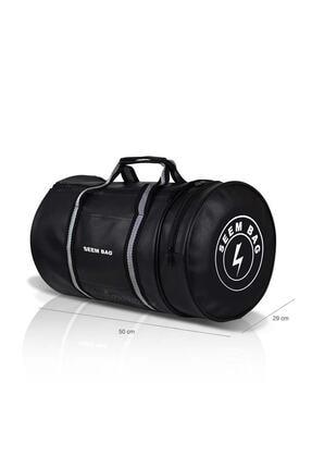BAVYERA Seem Bag Silindir Spor Fitness Çantası Askılı Siyah 3