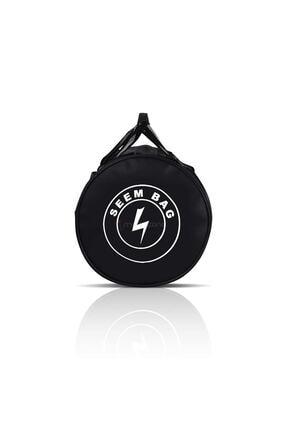 BAVYERA Seem Bag Silindir Spor Fitness Çantası Askılı Siyah 4