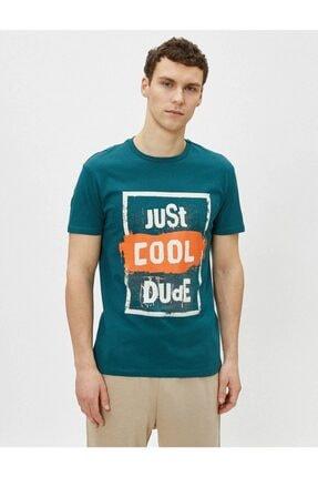 Koton Erkek T-shirt Yeşil 2