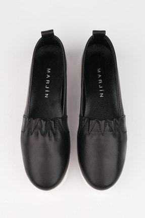 Marjin Kadın Siyah Hakiki Deri Comfort Ayakkabı Tilev 1