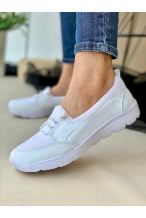 AYŞEM Kadın Beyaz Ortopedik Günlük Ayakkabı 1