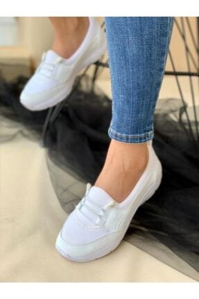 AYŞEM Kadın Beyaz Ortopedik Günlük Ayakkabı 4