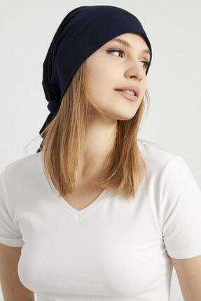Butikgiz Kadın Lacivert, Ip Detaylı Özel Tasarım 4 Mevsim Şapka Bere Buff -ultra Yumuşak Doğal Penye Kumaş 2
