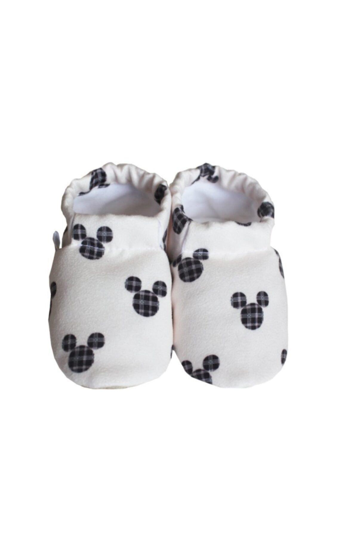 Unisex Bebek Beyaz Kaydırmaz Patik
